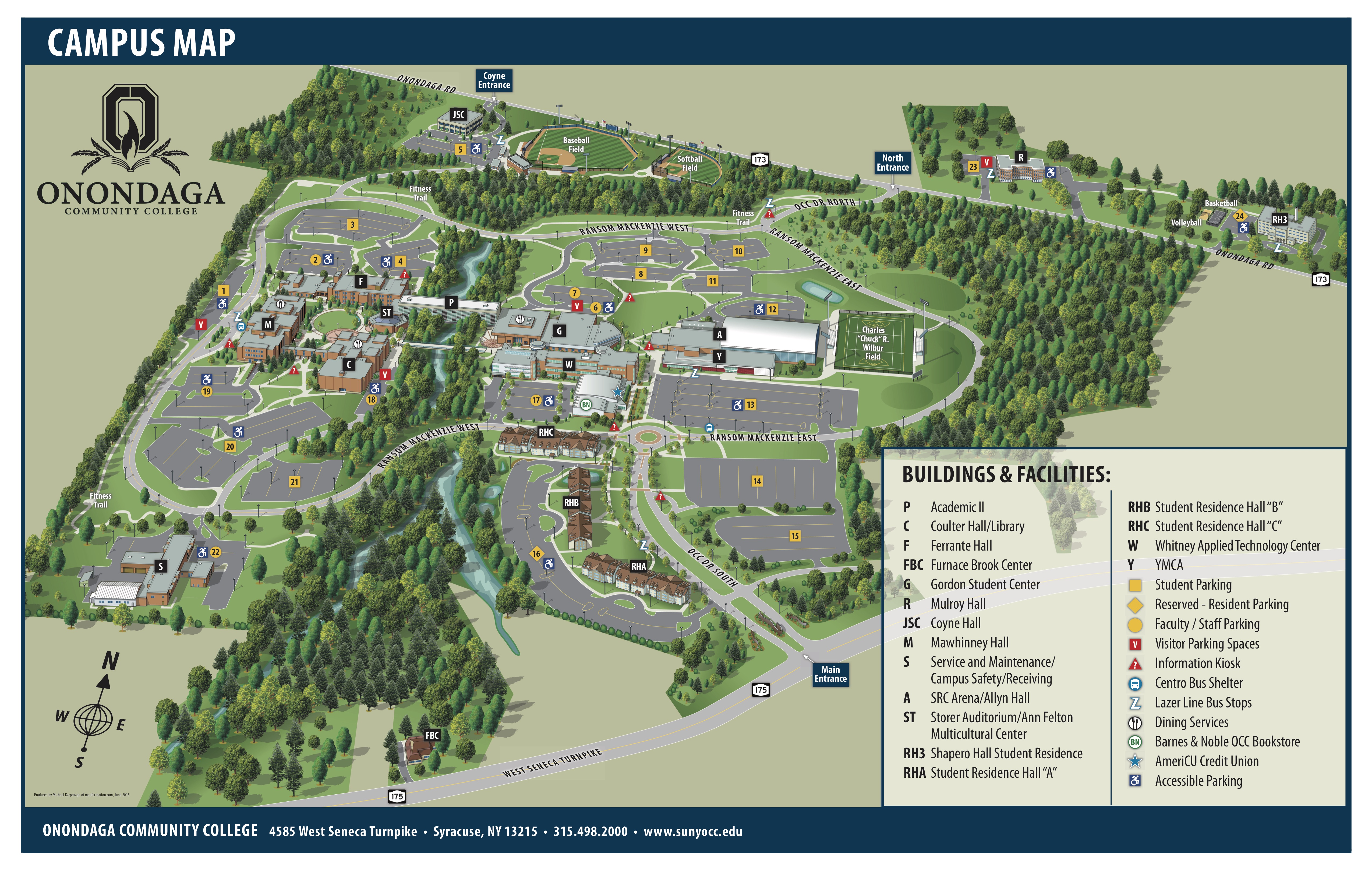 OCC Campus Map