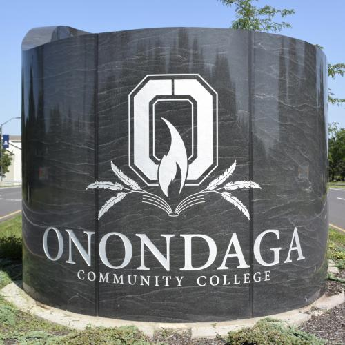 Onondaga Community College entrance off Route 175