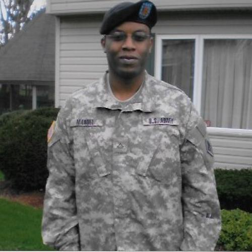 Reggie Manuel is a United States Army Veteran who was critically wounded in Iraq. He plans to complete work toward his OCC degree this December.