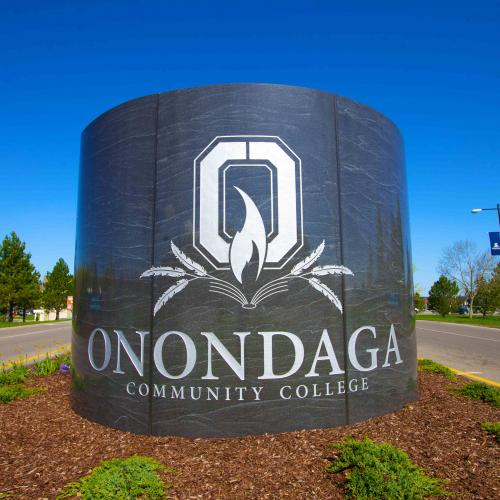 Onondaga Community College Marble Entrance Sign