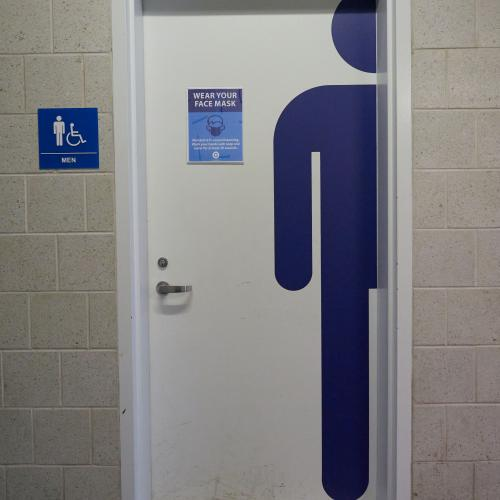 Men's Bathroom signs