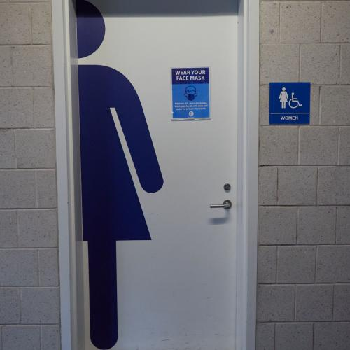 Women's bathroom signs