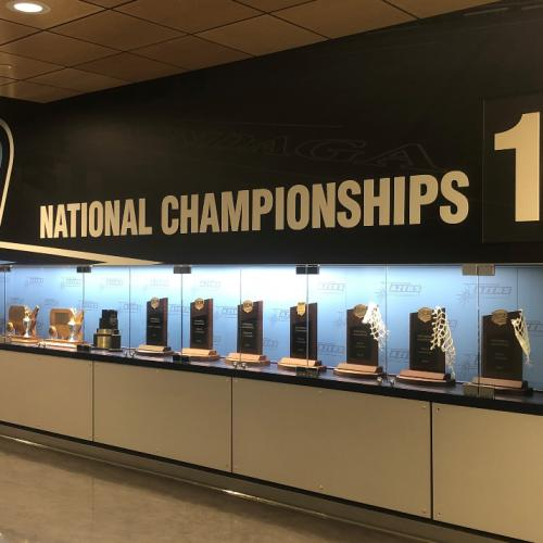 athletics trophy case