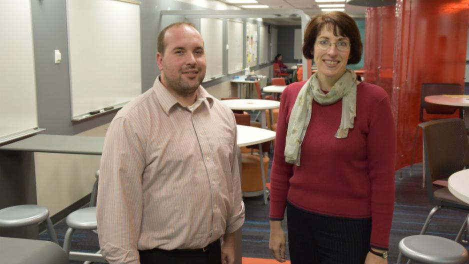 Ted Mathews and Kathleen D'Aprix oversee Learning Center operations.