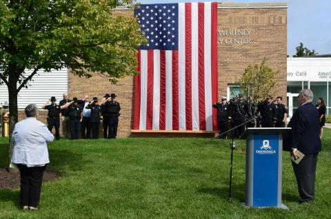 photo of 9/11 ceremony on the OCC campus
