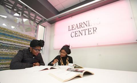 Students Studying in the Learning Center