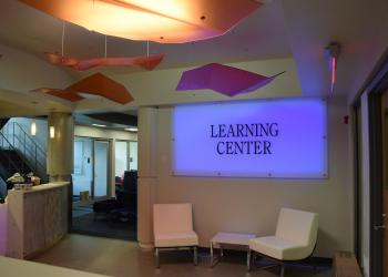 Sign in Learning Center which lights up and changes colors