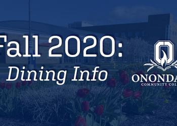 Fall 2020: Dining Info with OCC Crest Logo